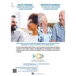 Affiche A4 Léa et Thomas, Odette et Charles